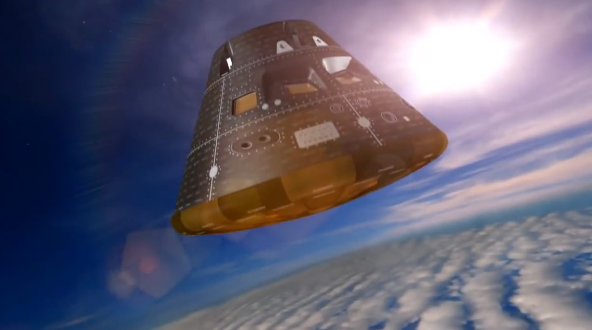 Signals from the Orion spacecraft are re-acquired.