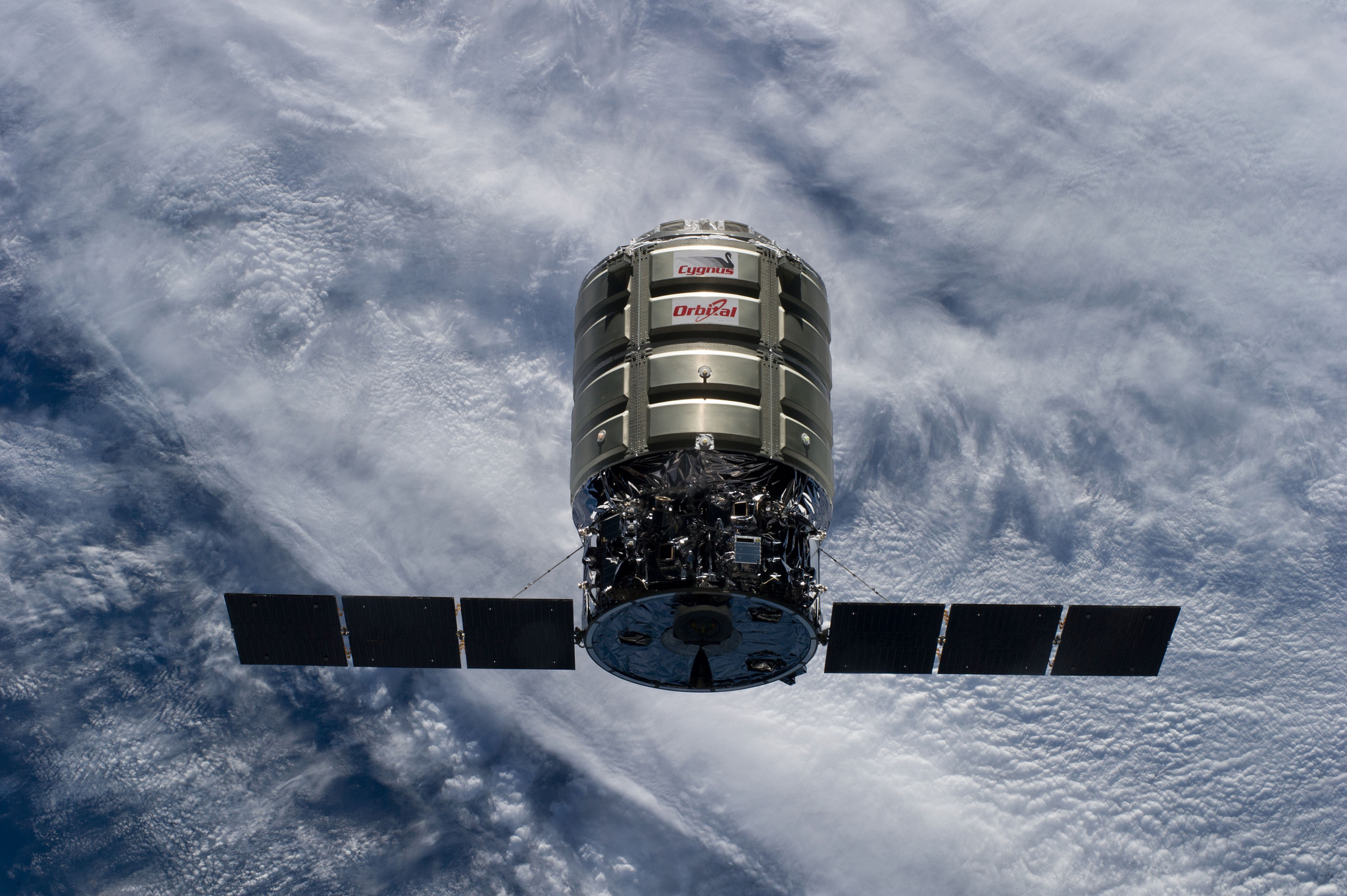 File photo of an Orbital Sciences Cygnus cargo ship approaching the International Space Station. Credit: NASA