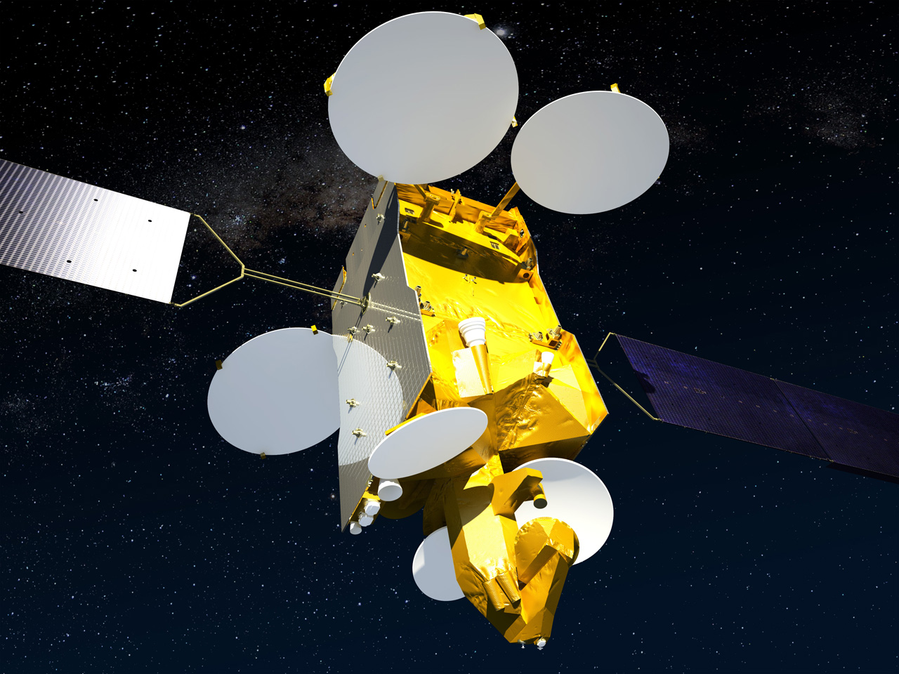 Artist's concept of the ASTRA 2G satellite in orbit. Credit: Airbus Defense and Space