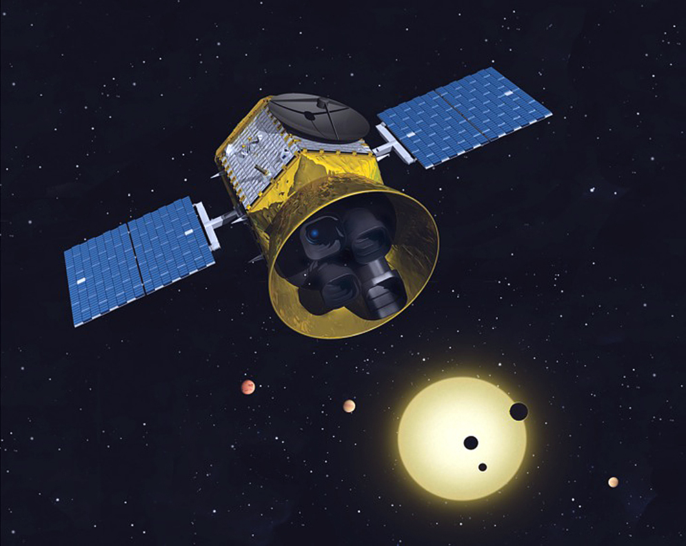 Artist's concept of the Transiting Exoplanet Survey Satellite. Credit: MIT