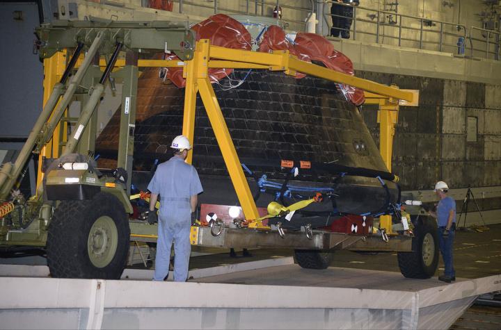 NASA Orion back on land