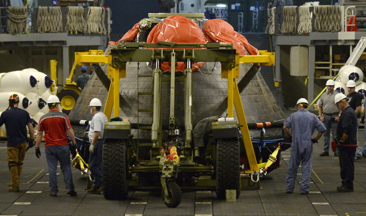 NASA Orion back on land