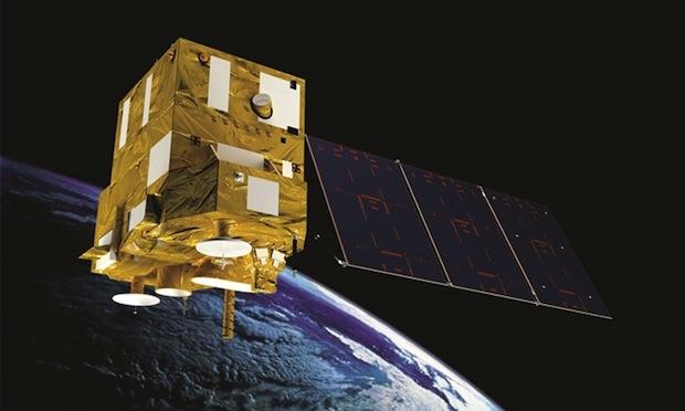 Artist's concept of the CBERS 4 satellite in orbit. Credit: Brazilian Space Agency (AEB)