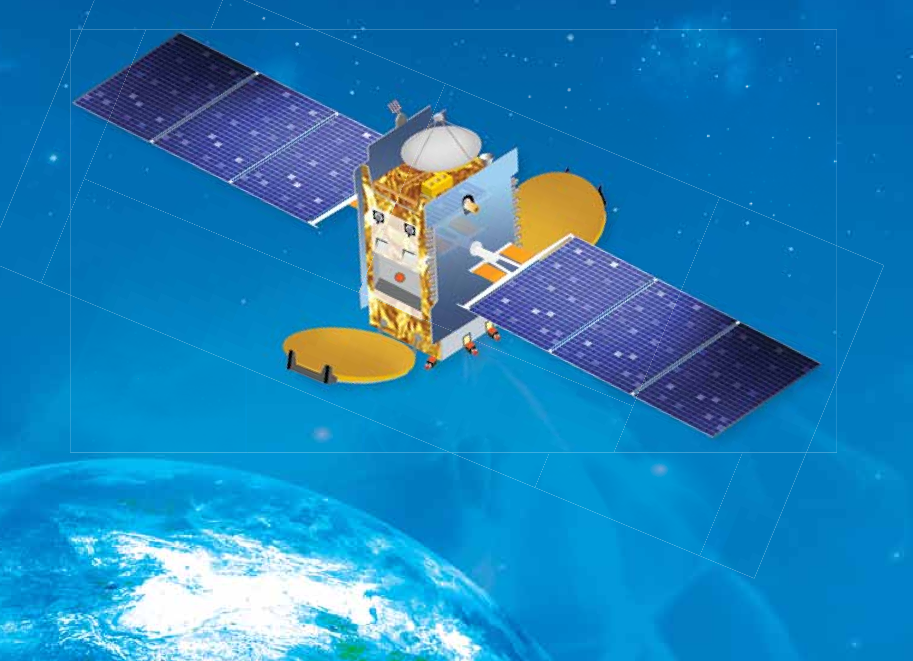 Artist's concept of the GSAT 16 satellite. Credit: ISRO