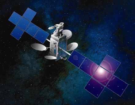 Artist's concept of the DirecTV 14 satellite. Credit: Space Systems/Loral