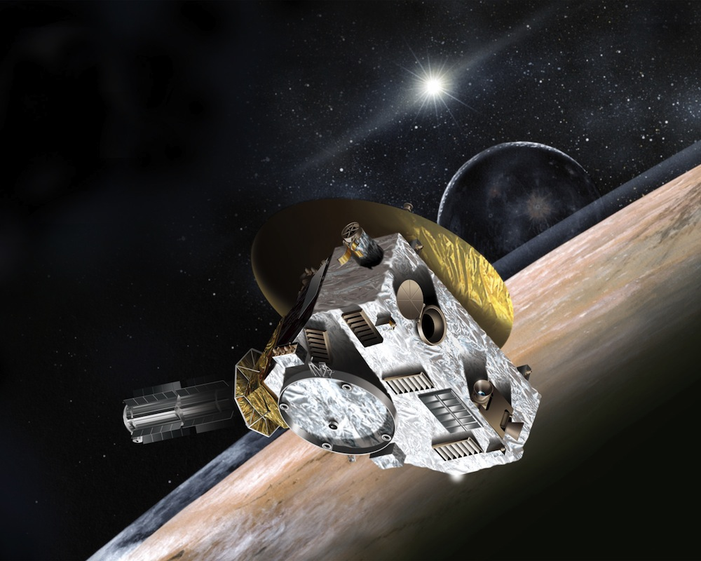 Artist's concept of the New Horizons spacecraft at Pluto. Credit: NASA