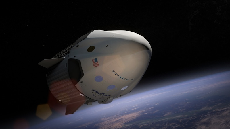Artist's concept of the Crew Dragon spacecraft. Credit: SpaceX