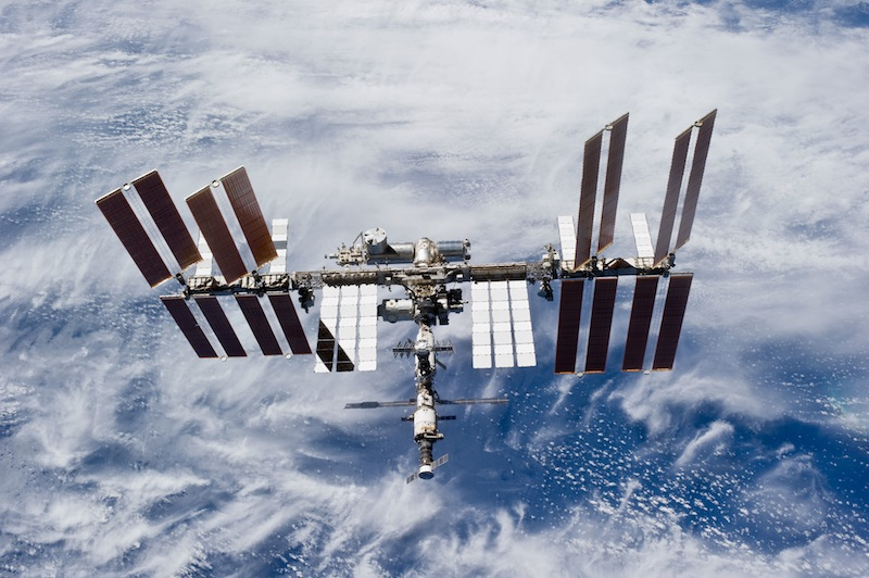 File photo of the International Space Station as seen by a space shuttle crew in 2010. Credit: NASA