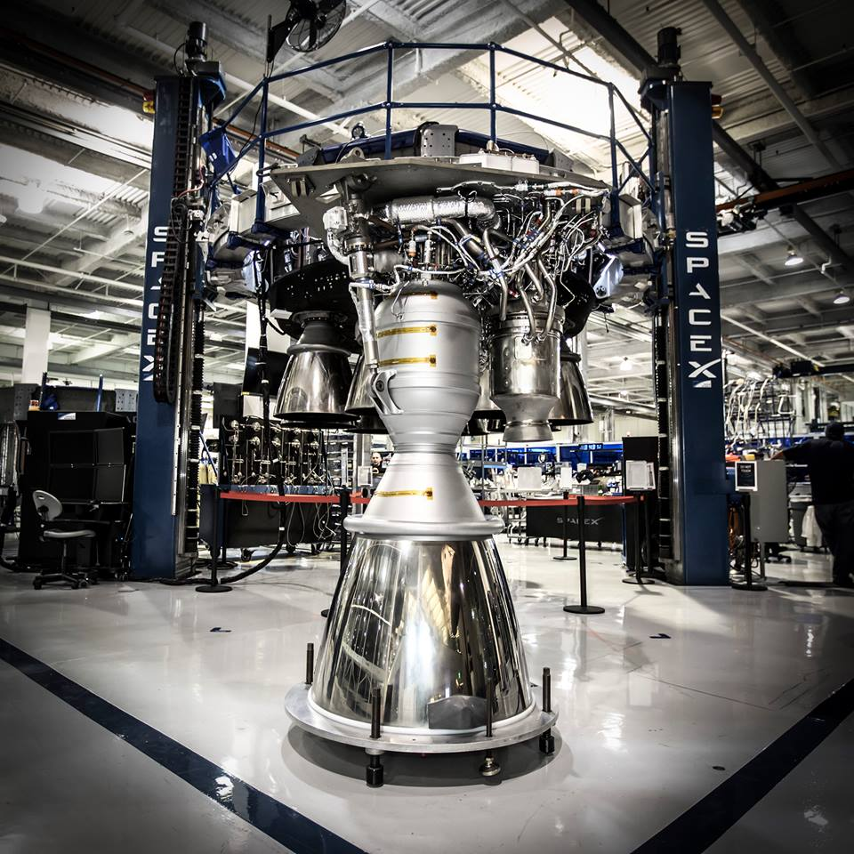 File photo of a Merlin 1D engine. Credit: SpaceX