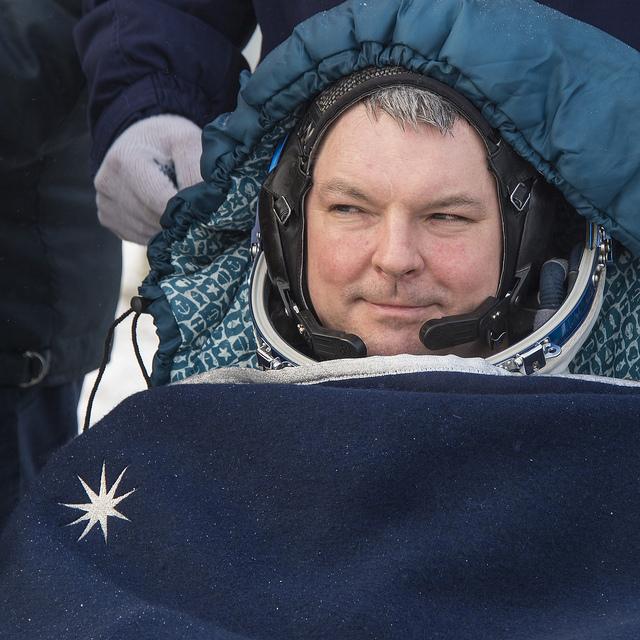 Soyuz commander Alexander Samokutyaev. Photo credit: NASA/Bill Ingalls
