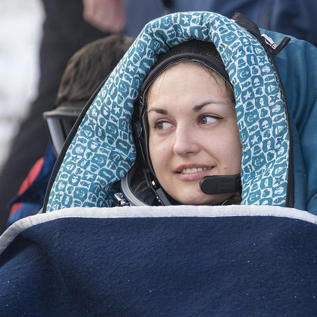 Soyuz flight engineer Elena Serova. Photo credit: NASA/Bill Ingalls