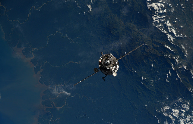 File photo of a Russian Progress supply freighter on approach to the International Space Station last year. Credit: ESA/NASA