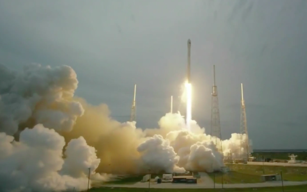 SpaceX's Falcon 9 rocket lifted off at 7:03 p.m. EDT (2303 GMT) after a 49-minute weather delay. Credit: SpaceX