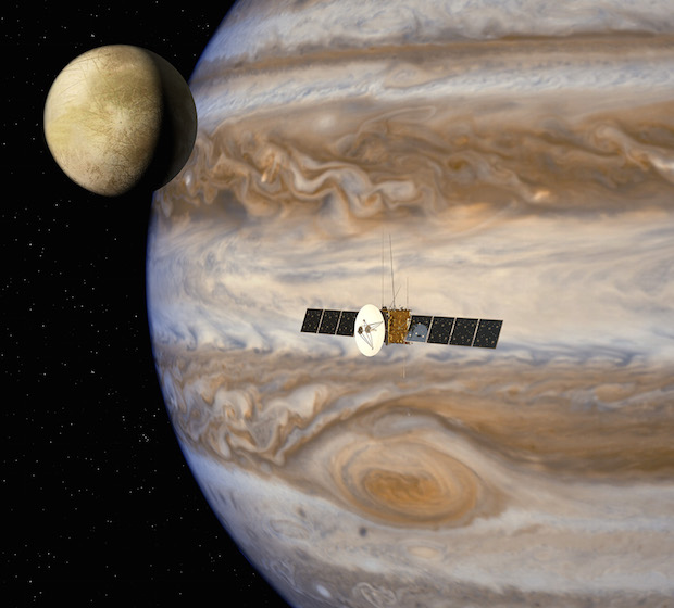 Artist's concept of ESA's Jupiter Icy Moons Explorer mission set for launch in 2022. Credit: ESA