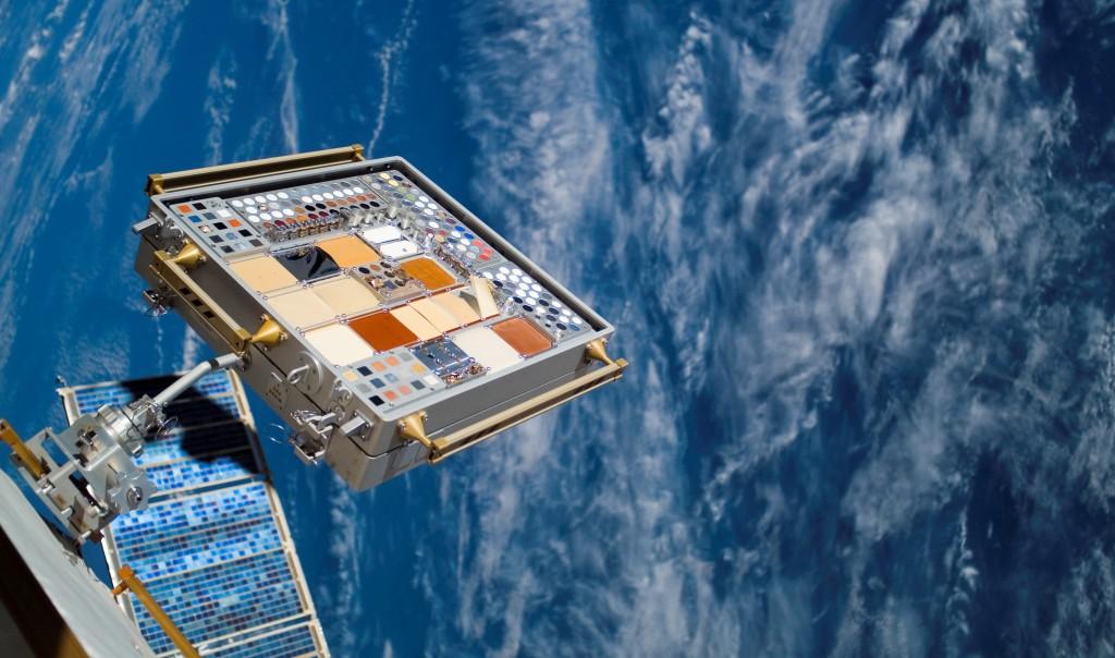 MISSE aboard the International Space Station. Credit: NASA