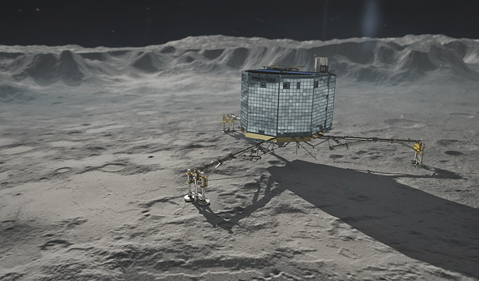 Artist's concept of the Philae comet lander. Credit: DLR