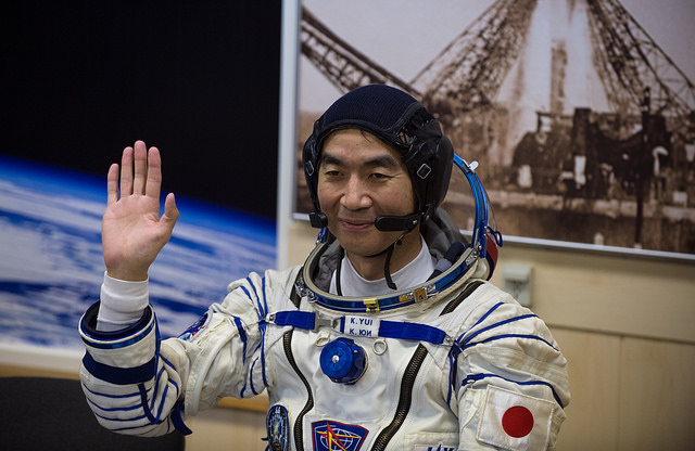 Japanese flight engineer Kimiya Yui will be at the controls of the space station robotic arm when the HTV cargo craft arrives at the complex Aug. 24. Credit: NASA/Aubrey Gemignani