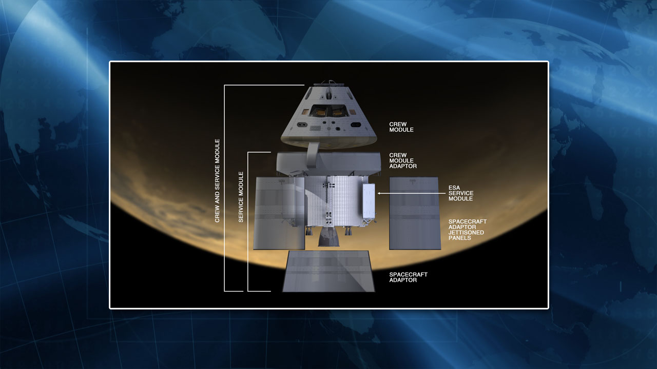 A diagram of the Orion crew capsule. Credit: NASA