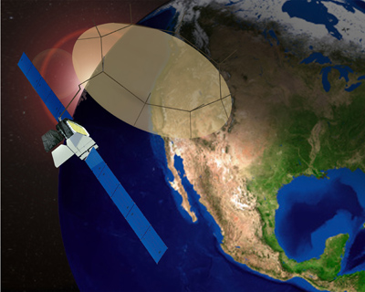 An artist's concept of the Morelos 3 satellite. Credit: Boeing