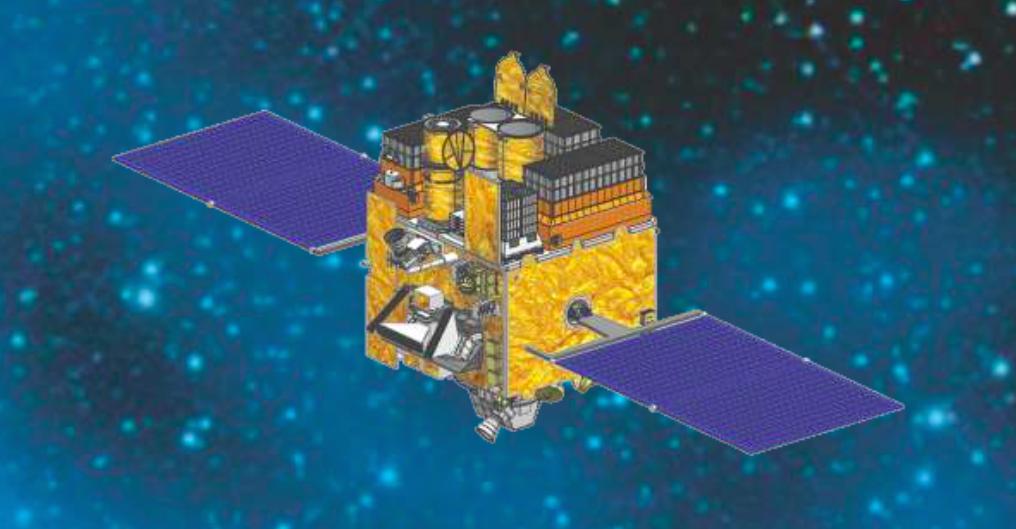 Artist's concept of the Astrosat spacecraft. Credit: ISRO