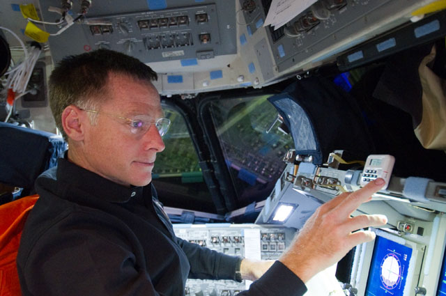 Chris Ferguson aboard the shuttle Atlantis' flight deck during the STS-135 mission in July 2011. Credit: NASA