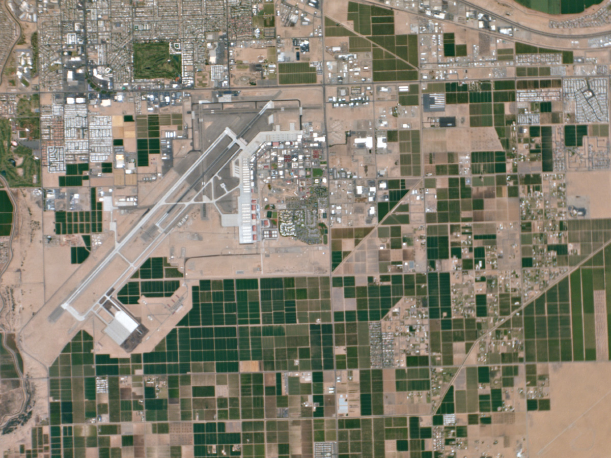 A Planet Labs satellite took this snapshot of Yuma, Arizona. Credit: Planet Labs