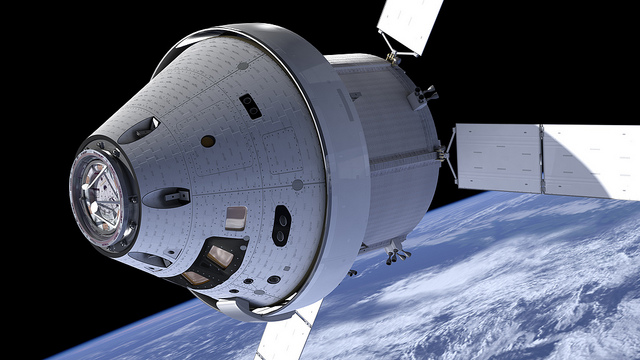 Artist's concept of the Orion spacecraft. Credit: NASA
