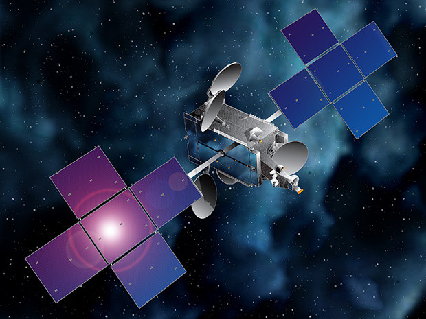 Artist's concept of the Eutelsat 65 West A satellite. Credit: Eutelsat/SSL