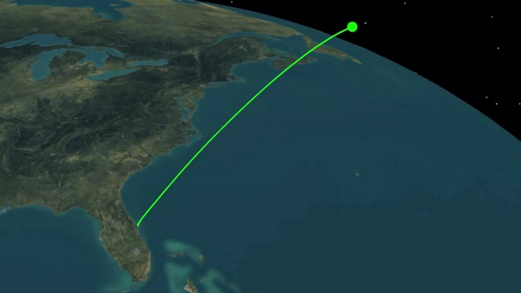 An artist's concept of the rocket's initial flight path. Credit: ULA