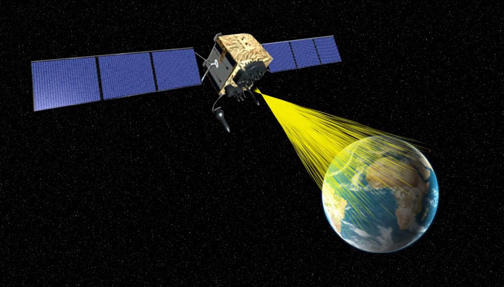 An artist's concept of GPS 2F. Credit: Boeing