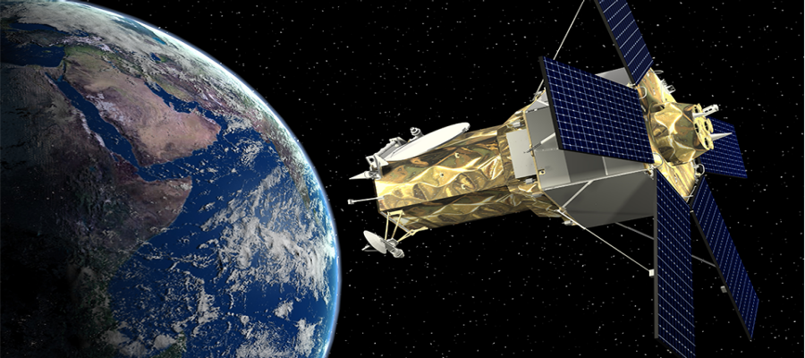 Artist's concept of the WorldView 4 commercial Earth observation satellite, one of two missions on the Atlas 5's firm commercial backlog. Credit: Lockheed Martin