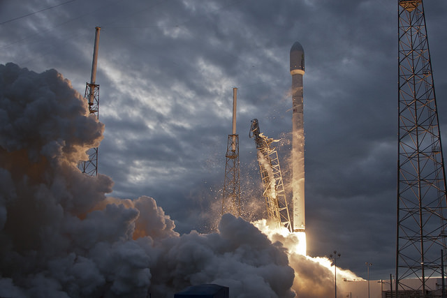 File photo of a SpaceX Falcon 9 launch. Credit: SpaceX