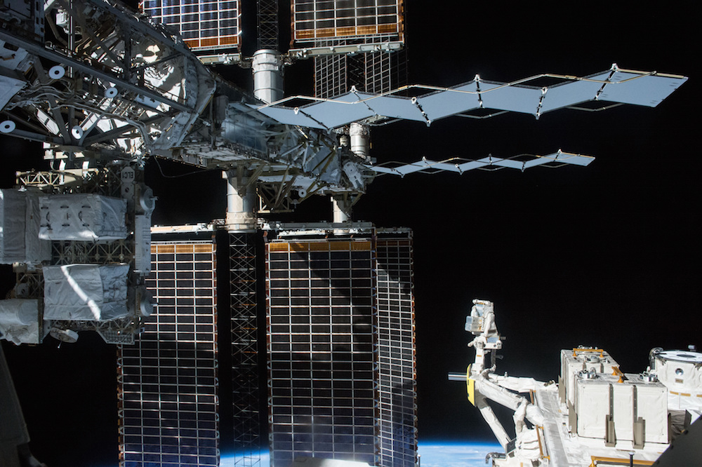 Astronaut Kjell Lindgren photographed at the P6 worksite Nov. 6. Credit: NASA