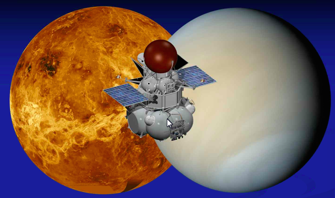 Artist's concept of the Venera-D spacecraft. Credit: NASA/IKI/David Senske