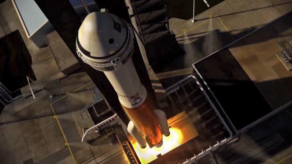 An artist's of a Starliner spacecraft launching atop an Atlas 5 rocket. Credit: NASA/ULA