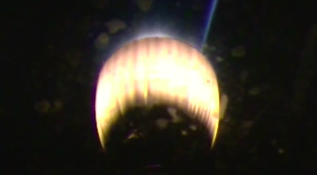 The Falcon 9's second stage engine ignites again for a 12-second burn to circularize its orbit.