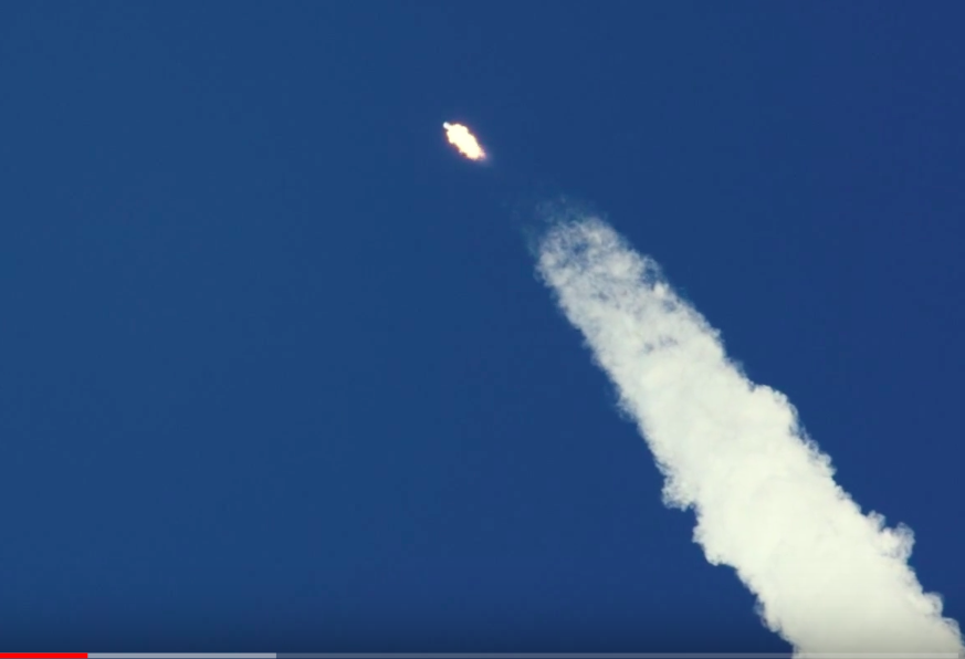 The Falcon 9 rocket reaches Max Q the point of maximum aerodynamic pressure