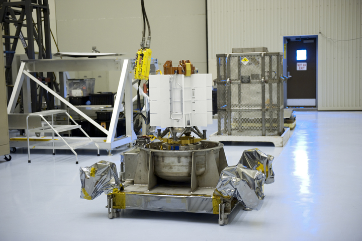 The multi-mission radioisotope thermoelectric generator for NASA's Curiosity Mars rover is pictured at the Kennedy Space Center in Florida before its attachment to the spacecraft in 2011. Credit: NASA/Kim Shiflett