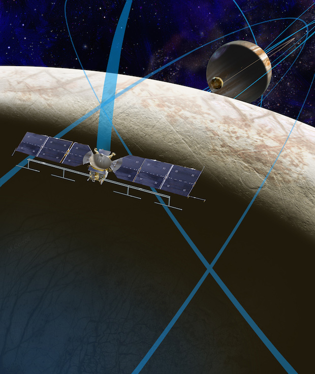 Artist's concept of the Europa mission. Credit: NASA/JPL-Caltech
