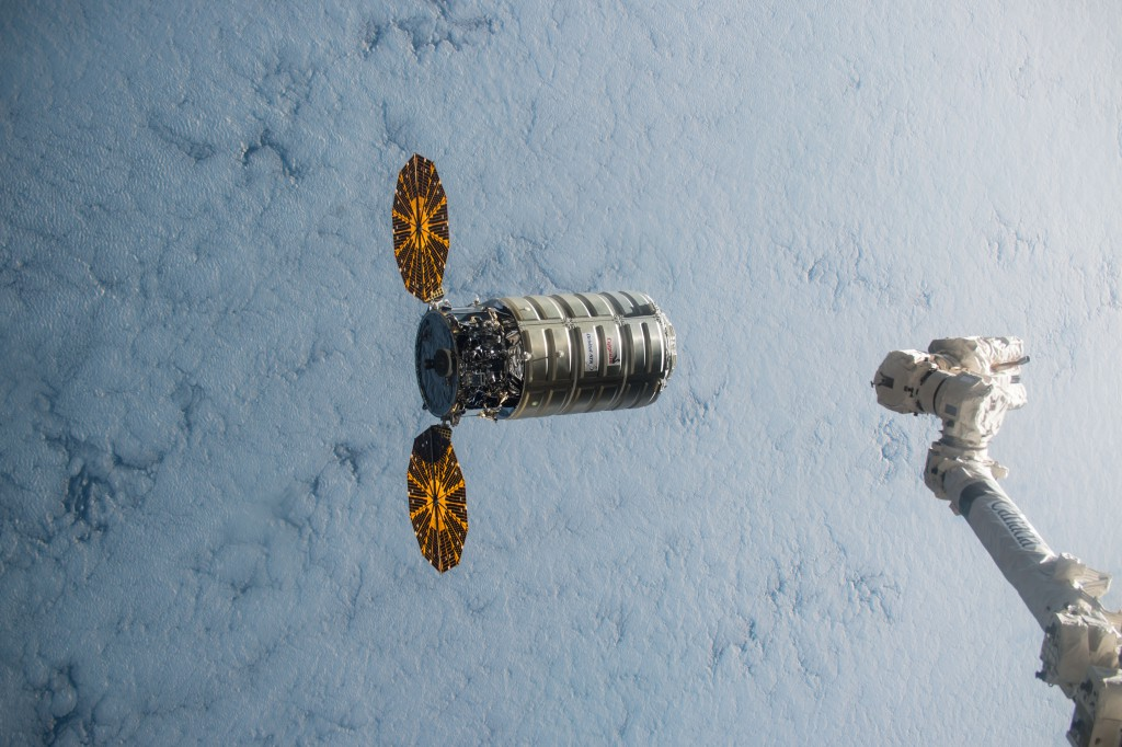 The most recent Cygnus arrived at the space station in December. Credit: NASA