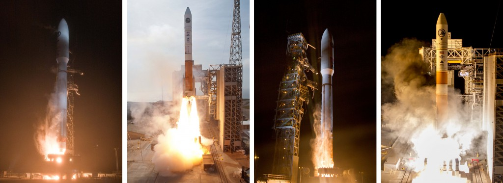 The four Topaz launches to date. Photos by ULA
