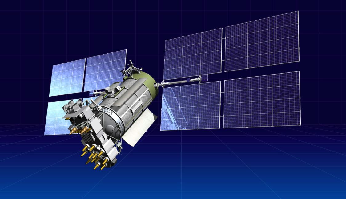 Artist's concept of a Glonass M navigation satellite. Credit: ISS Reshetnev