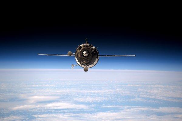 The Soyuz TMA-20M spaceship approaches the International Space Station. Credit: NASA/ESA/Tim Peake