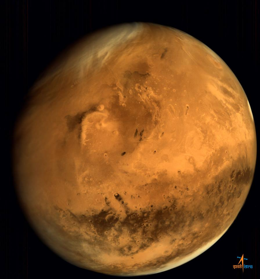 India's Mars Orbiter Mission captured this global view of Mars in 2014. Credit: ISRO
