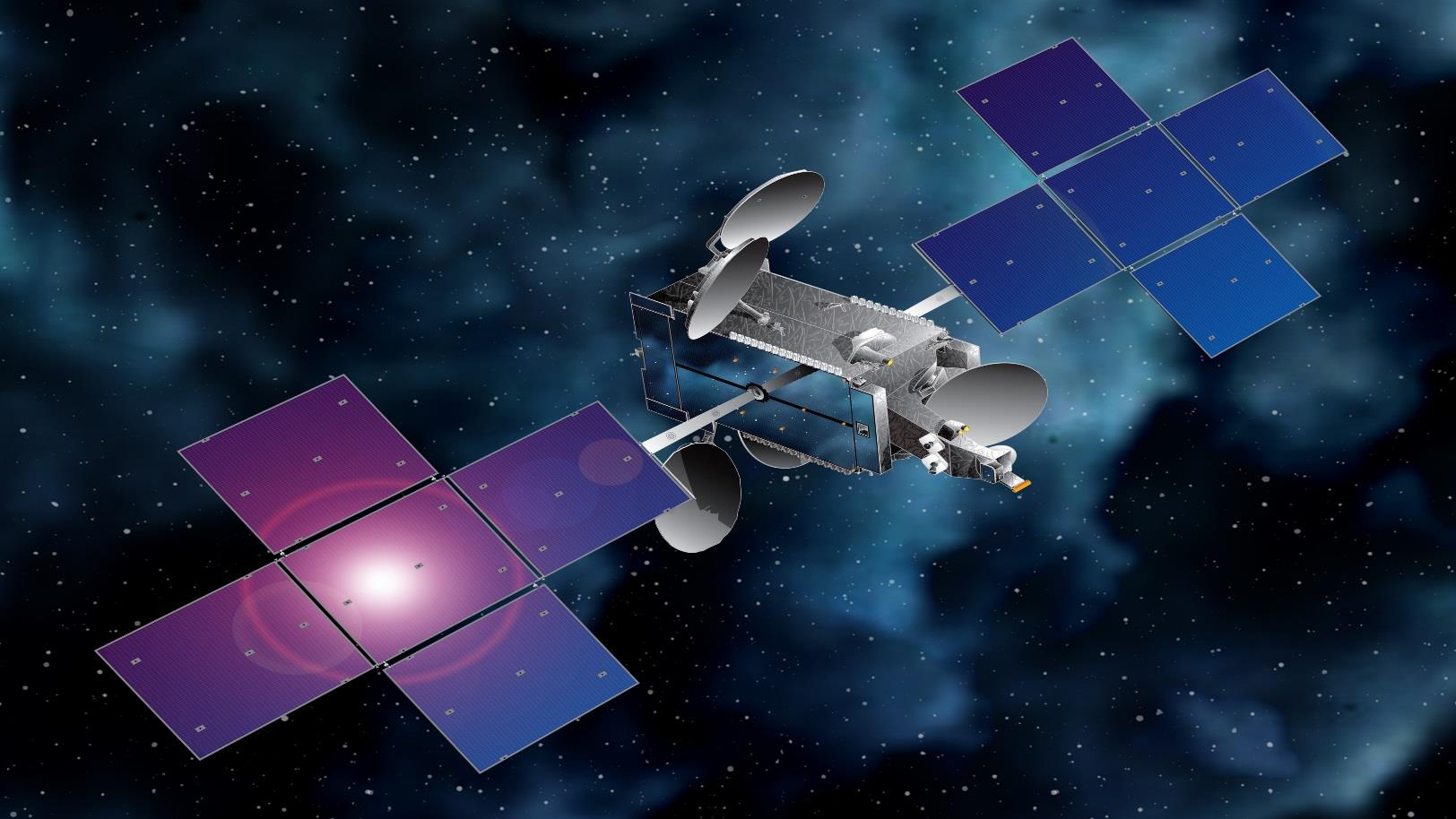 Artist's concept of the Eutelsat 65 West A satellite. Credit: Space Systems/Loral