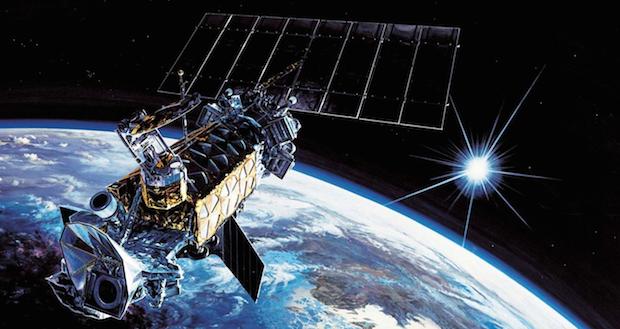 Artist's concept of a DMSP weather satellite in orbit. Credit: Lockheed Martin