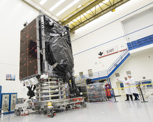 File photo of the SES 9 satellite before launch. Credit: Boeing