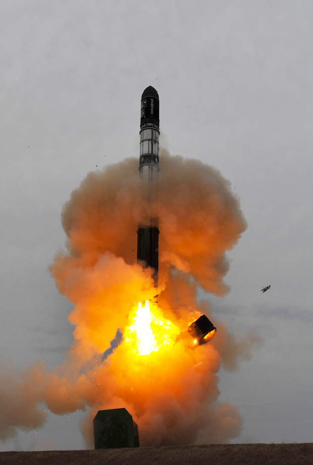 File photo of a silo-launched Dnepr rocket. Credit: ESA - S. Corvaja, 2010