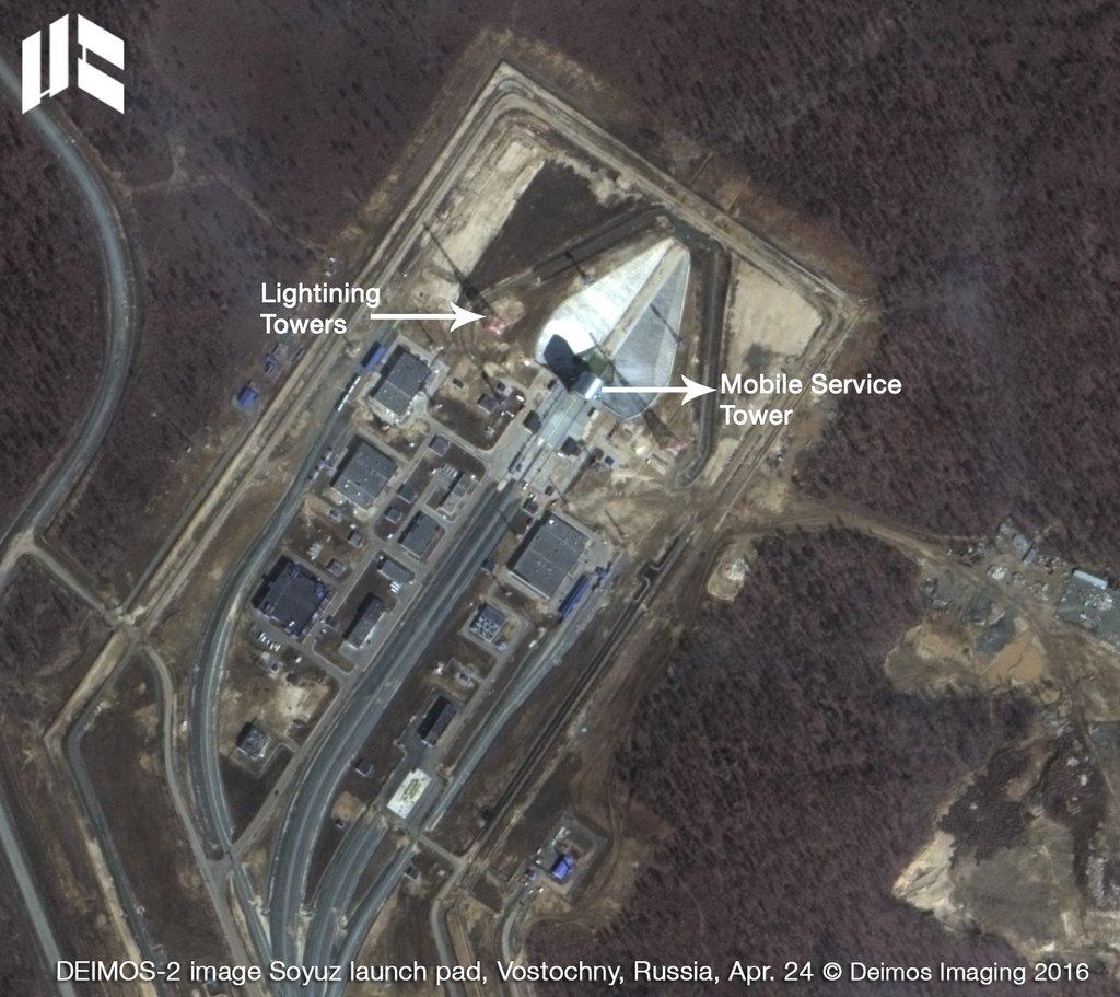 The Spanish Deimos 2 satellite took this image of the Vostochny Cosmodrome April 24. Credit: Deimos Imaging