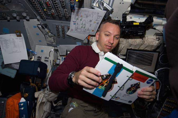 Astronaut Randy Bresnik aboard the shuttle Atlantis in 2009. Credit: NASA
